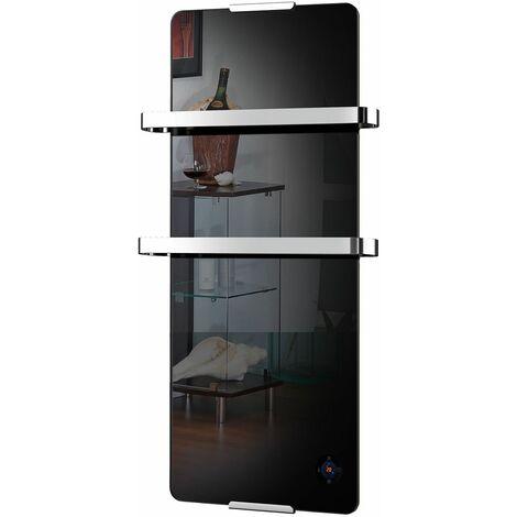 sèche-serviette électrique 900w noir - 210 - chemin'arte