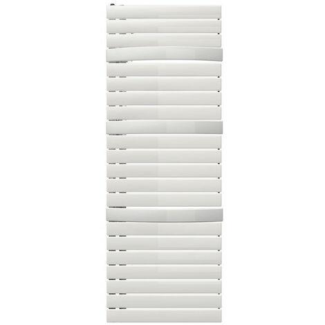 Sèche-serviette électrique Arborescence Smart blanc 750W - collecteur à droite