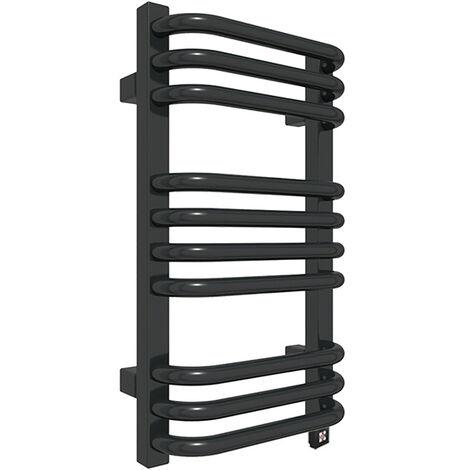 Sèche-serviette électrique noir - Raccordement à droite - Alex/E8N (plusieurs tailles disponibles)
