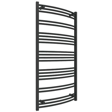 Sèche-serviette électrique noir - Raccordement à droite - Jade/E8N (plusieurs tailles disponibles)