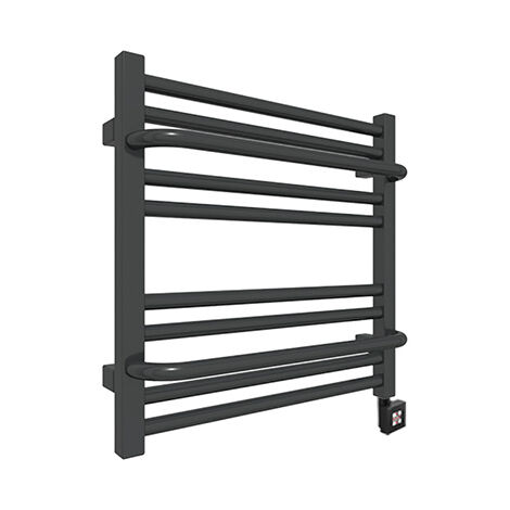 Sèche-serviette électrique noir - Raccordement à droite - Lima/PE8N (plusieurs tailles disponibles)