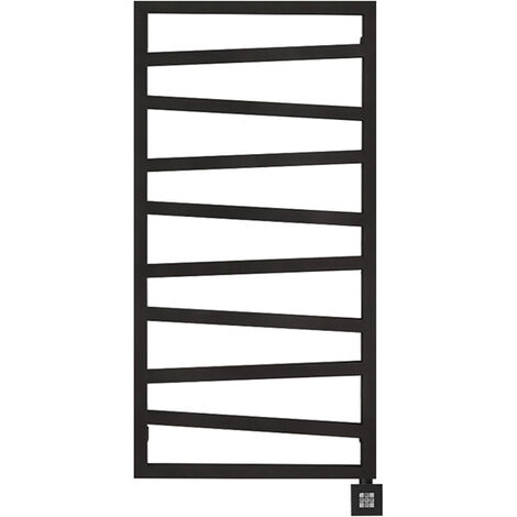 Sèche-serviette électrique noir - Raccordement à droite - Zigzag/E8N (plusieurs tailles disponibles)