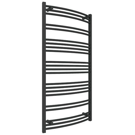 Sèche-serviette électrique noir - Raccordement à gauche - Jade/E1N (plusieurs tailles disponibles)