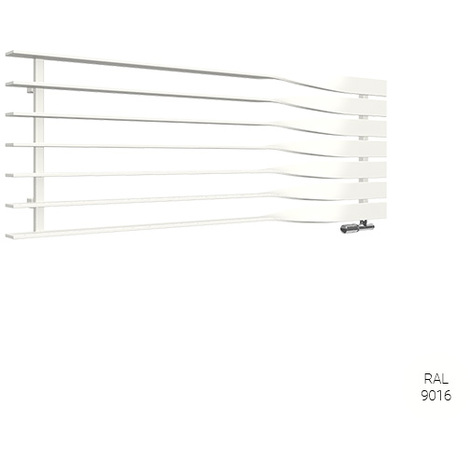 Sèche-serviette horizontal - Chauffage central - Blanc - Cyklon/O1B  (plusieurs tailles disponibles)