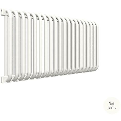 Sèche-serviette horizontal - Chauffage Central - Blanc - Delfin/YLB (plusieurs tailles disponibles)