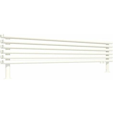 Sèche-serviette horizontal - Chauffage Central - Blanc - Tune HSD/YPB (plusieurs tailles disponibles)