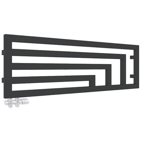 4fa9343836 Sèche-serviette horizontal - Chauffage Central - Noir Mat - Angus/YLN  (plusieurs tailles disponibles)