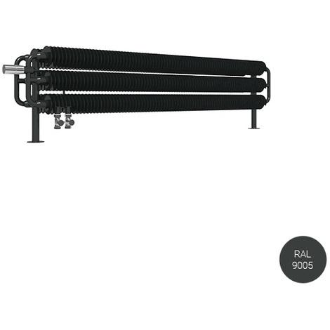 Sèche-serviette horizontal - Chauffage Central - Noir Mat - Ribbon HSD/YLN (plusieurs tailles disponibles)