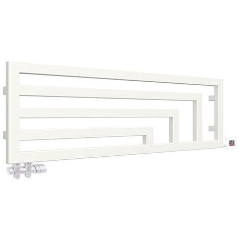 Seche-serviette horizontal mixte blanc - Raccordement à droite - Angus/Y7B (plusieurs tailles disponibles)
