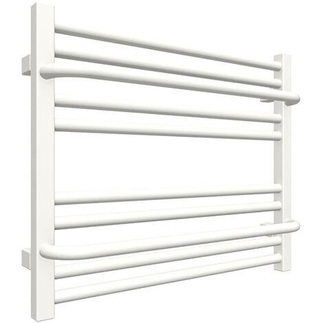 Sèche-serviette horizontal mixte blanc - Raccordement au centre et à droite - Lima/Z8B (plusieurs tailles disponibles)