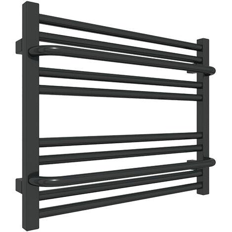 Sèche-serviette horizontal mixte noir - Raccordement au centre et à droite - Lima/Z8N (plusieurs tailles disponibles)