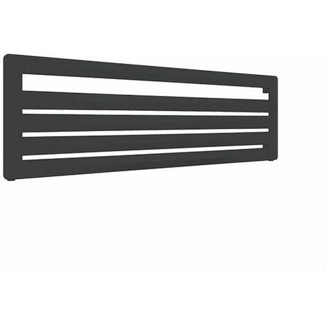 Sèche-serviette horizontal noir - Chauffage Central - Raccordement à gauche - Aéro HG/YLN (plusieurs tailles disponibles)
