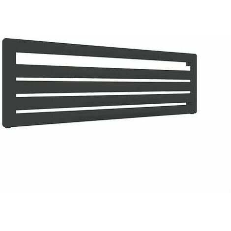 Sèche-serviette horizontal noir - Chauffage Central - Raccordement aux extrémités - Aéro HG/SXN (plusieurs tailles disponibles)