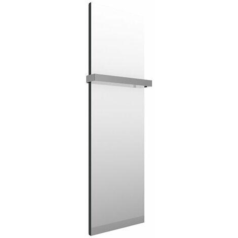 Sèche-serviette miroir - Chauffage Central - Noir Mat - Case Slim/ZXN (plusieurs tailles disponibles)