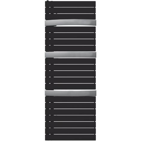 Sèche-serviette mixte Arborescence Smart black/alu 750W - collecteur à droite