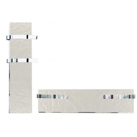Sèche-serviette rayonnant SLIM 2.0 Ardoise Blanche 500W - Valderoma 01500TL