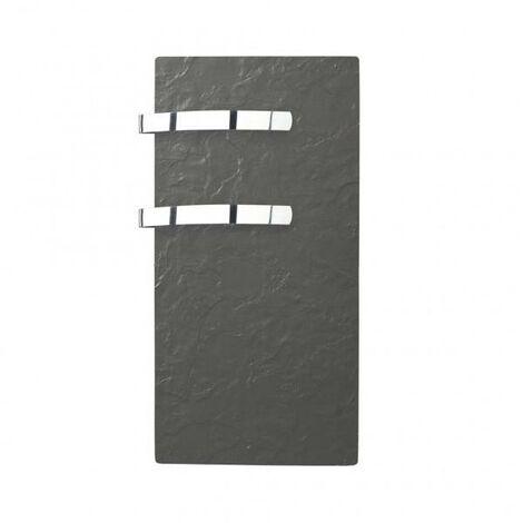 Sèche-serviette rayonnant SLIM 2.0 Ardoise Noire 800W - Valderoma 02800TL