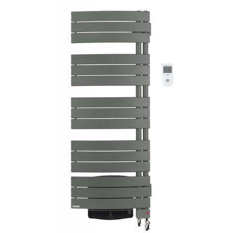 Sèche-serviettes Allure 2 mixte avec soufflerie 2000W gris menhir (483902)