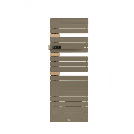 Sèche-serviettes Allure 3 mat à gauche avec soufflerie 1500W brun sable (483163)