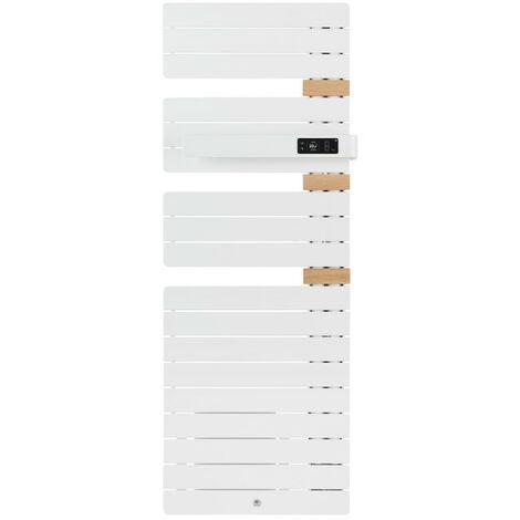 Sèche-serviettes Allure 3 mat à gauche avec soufflerie 1500W vert eucalyptus (483167)