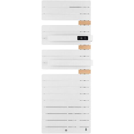 Sèche-serviettes Allure 3 virtuose mat gauche avec soufflerie 1750W blanc granit (483096)