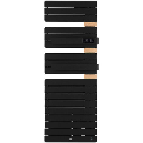 Sèche-serviettes Allure 3 virtuose mat gauche soufflerie 1750W noir carbone (483119)