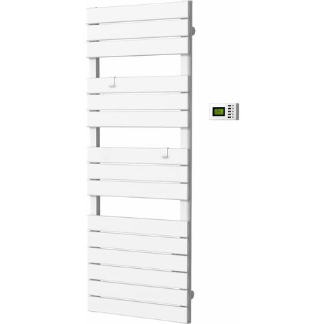 Sèche-serviettes barres plates - régulation électronique programmable - multimode - VOLTMAN - 750W 7,8kg IP24 NF CE - Blanc