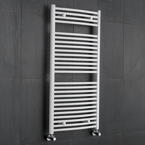Sèche-Serviettes Blanc Etna 120cm x 60cm x 5,6cm 888 Watts