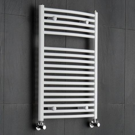 Sèche-Serviettes Blanc Etna 80cm x 60cm x 5,6cm 592 Watts