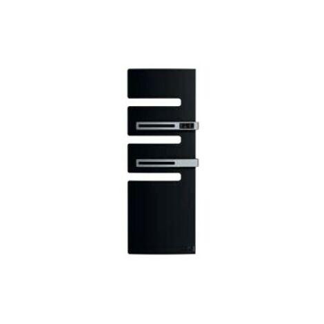 Sèche-serviettes connecté soufflant Serenis Premium - Mât à gauche - 750+1000W - Noir