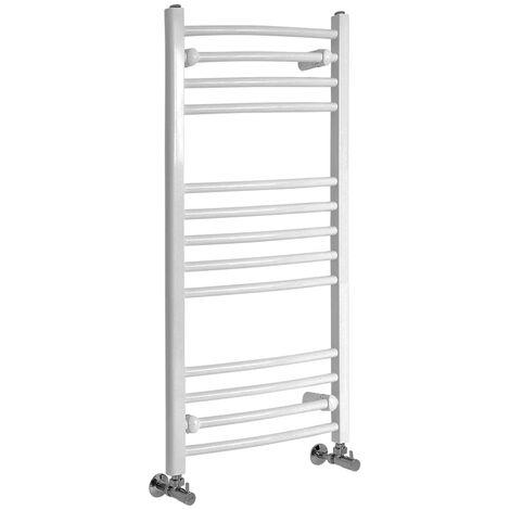 Sèche-Serviettes Design – Blanc – 100 x 50cm Incurvé – Etna