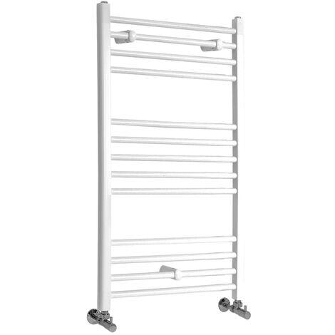 Sèche-Serviettes Design – Blanc – 100 x 50cm Plat – Etna