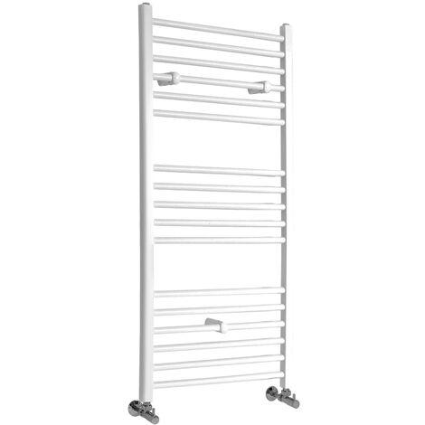 Sèche-Serviettes Design – Blanc – 120 x 50cm Plat – Etna