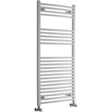 Sèche-Serviettes Design – Blanc – 120 x 60cm Incurvé – Etna