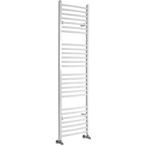 Sèche-Serviettes Design – Blanc – 180 x 50cm Incurvé – Etna