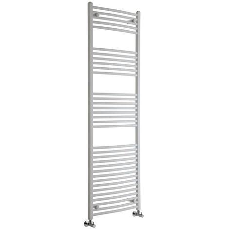 Sèche-Serviettes Design – Blanc – 180 x 60cm Incurvé – Etna