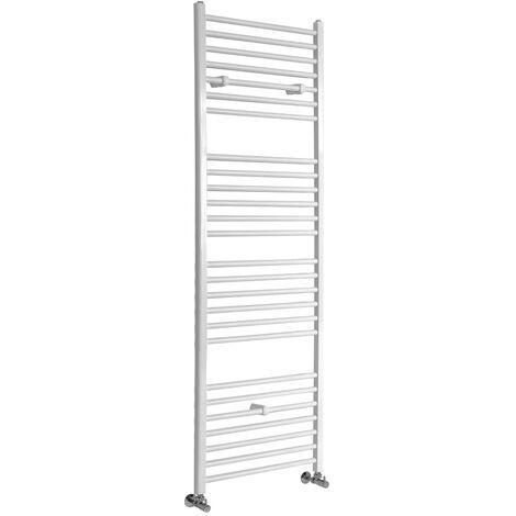 Sèche-Serviettes Design – Blanc – 180 x 60cm Plat – Etna