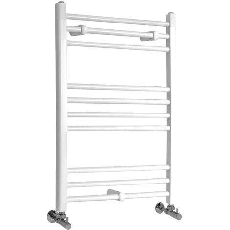 Sèche-Serviettes Design – Blanc – 80 x 50cm Plat – Etna