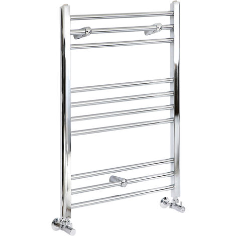 Sèche-Serviettes Design – Chrome – 80 x 60cm Plat – Ischia