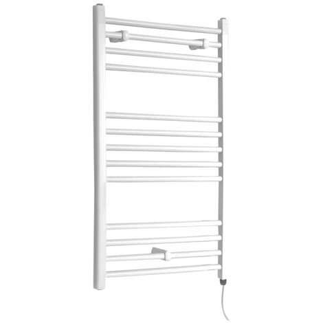 Sèche-Serviettes Design Électrique – Blanc – 100 x 50cm Plat – Etna