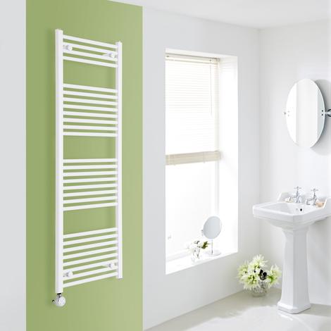 Sèche-Serviettes Design Électrique – Blanc – 150 x 50cm Plat – Etna