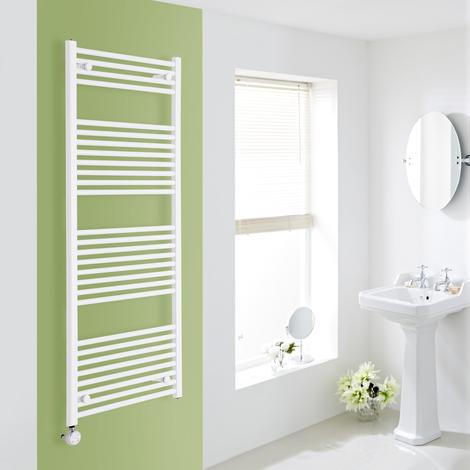 Sèche-Serviettes Design Électrique – Blanc – 150 x 60cm Plat – Etna