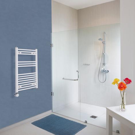 Sèche-Serviettes Design Électrique – Blanc – 80 x 50cm Incurvé – Etna