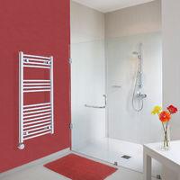 Sèche-Serviettes Design Électrique – Chrome – 100 x 50cm Incurvé – Ischia