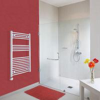 Sèche-Serviettes Design Électrique – Chrome – 100 x 60cm Incurvé – Ischia