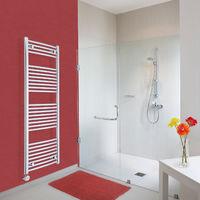 Sèche-Serviettes Design Électrique – Chrome – 150 x 50cm Incurvé – Ischia