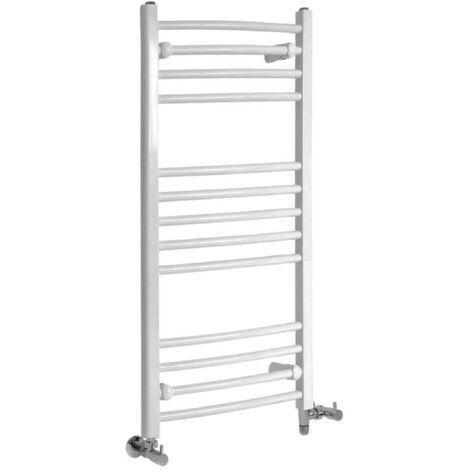 Sèche-Serviettes Design Mixte – Blanc – 100 x 50cm Incurvé – Etna