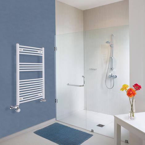 Sèche-Serviettes Design Mixte – Blanc – 100 x 60cm Incurvé – Etna