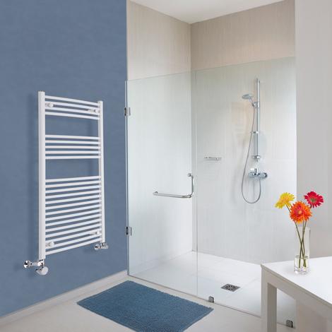 Sèche-Serviettes Design Mixte – Blanc – 120 x 60cm Incurvé – Etna