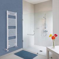Sèche-Serviettes Design Mixte – Blanc – 150 x 50cm Incurvé – Etna